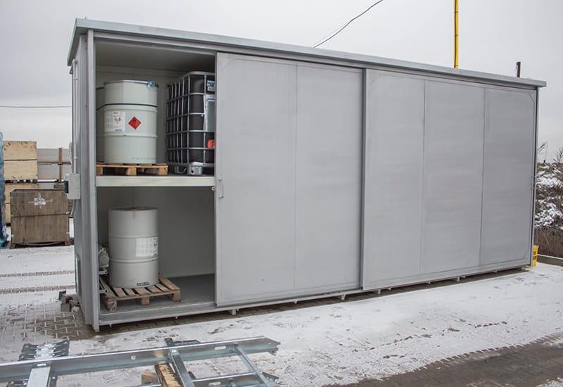 Kontener specjalistyczny do przechowywania żywicy z utrzymaniem temperatury przez cały rok