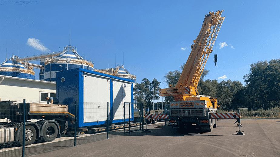 Magazynowanie materiałów niebezpiecznych z ochroną ppoż. - kontenery chemiczne